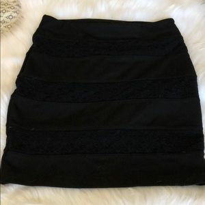 Black lace bandage skirt